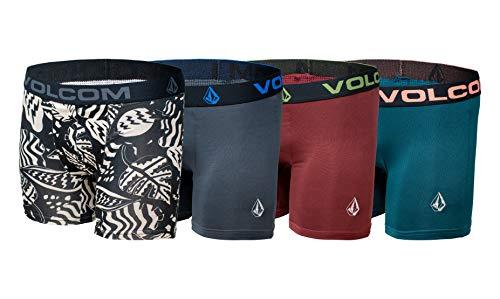Volcom Boys Boxer Briefs Performance Underwear (Multi/Green/Maroon/Grey, 2T)