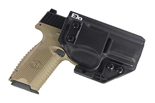 FDO Industries -Formerly Fierce Defender- IWB Kydex Holster FN 509 The Paladin Series -Made in USA- (Left Handed (IWB), Black)