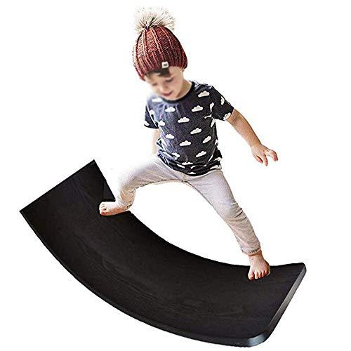 lxfy Holz Balance Board, Waldorf Kinder Board, Wobbel Balance Board, kurvige Board Kinder Balance Spielzeug, Wackeln, Spin, Rock, Rutsche, Outdoor Wippe Yoga Board Spielzeug für Kinder