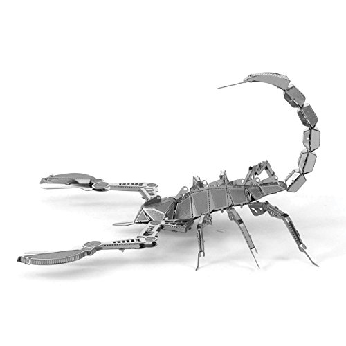 Fascinations Metal Earth MMS070 - 502702, Scorpion, Konstruktionsspielzeug, 1 Metallplatine, ab 14 Jahren