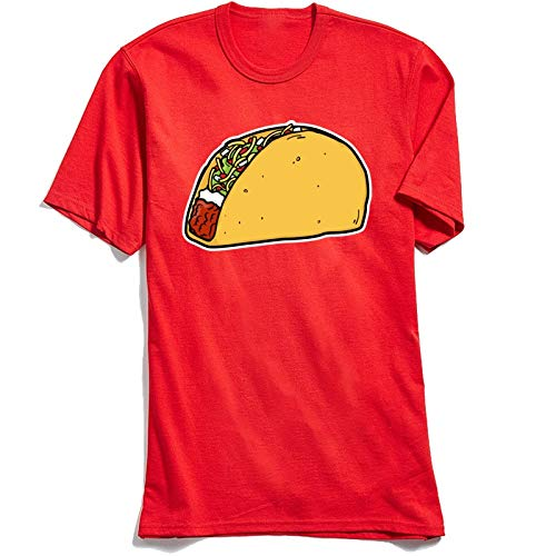 xingguang Cumpleaños Taco T Shirt Guys Red O-Neck Camiseta Otoño Tops & Camisetas Manga Corta para Hombres 100% Algodón Casual T-Shirt Venta al por mayor