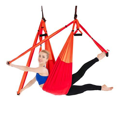 Fabax Complete set met 6 handgrepen, tegen zwaartekracht van lucht, yoga, plafond, hangmat, stuurwiel, schommel, trapeze, yoga, ontvangst, omkeervoorziening voor riem