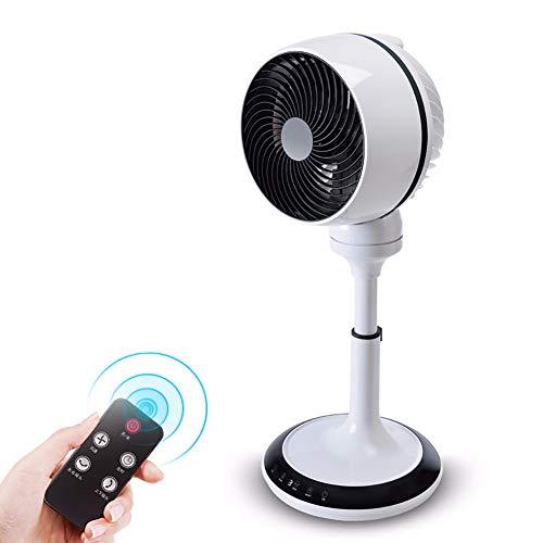 YYYUE 50W Stand-Fan Umlauf, Kopf schütteln Mute Fernbedienung Timing, Energiesparventilator im Wohnzimmer Schlafzimmer Büro