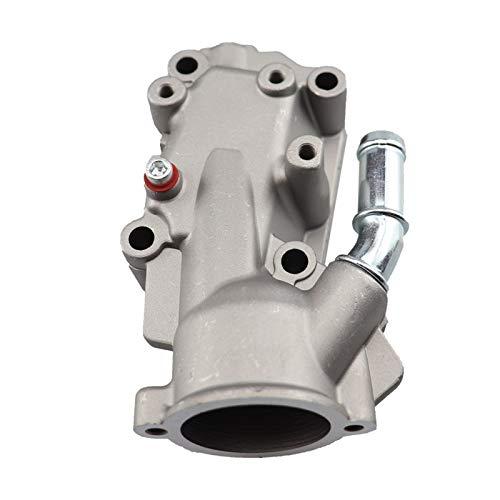 GXDD Termostato Carcasa Frida de agua de refrigerante Fit para Citroen Peugeot C3 I C4 I 206 307 1.4/1.6.6V Aluminio 1336W3 1336W3