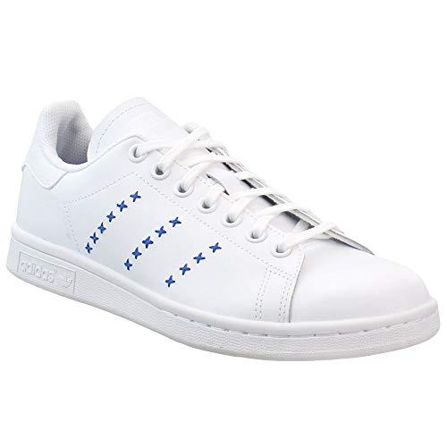 adidas Originals Unisex-Kid's Stan Smith J, Footwear White/Footwear White/Royal Blue, 7 M US Big