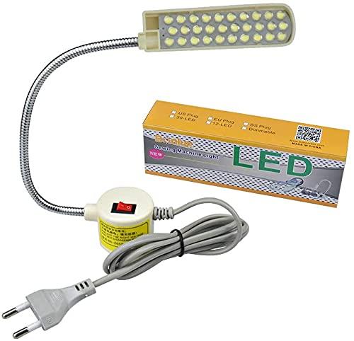 Bonlux 30 LED Bombilla Luz Fría Para Máquina de Coser de Trabajo de cuello de cisne Con Base Magnética De Montaje Para Todos Máquina de Coser de Iluminación