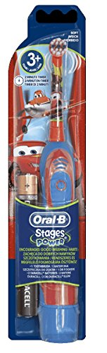 BRAUN ORAL B STAGES POWER BATTERY KIDS BATTERY OPERATED TOOTHBRUSH CARS by Braun