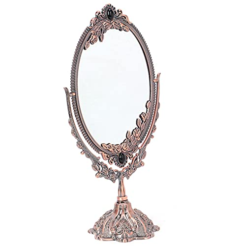 Liyong Espejo De Tocador Ovalado De Escritorio, Espejo De Maquillaje Aspecto Magnífico Mano De Obra Exquisita para Espejo