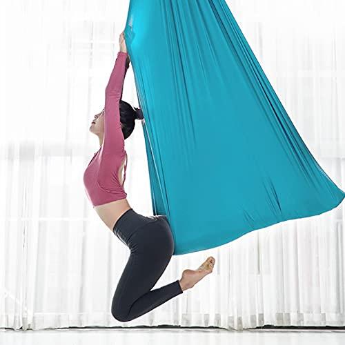 KOSIEJINN Amaca Yoga Antigravity Altalena Elastico Yoga Portata Massima 900KG Set di Altalene Yoga con Gancio a Margherita e Moschettone per Famiglie Studi di Yoga e Viaggi Allaperto Pilates Fitness