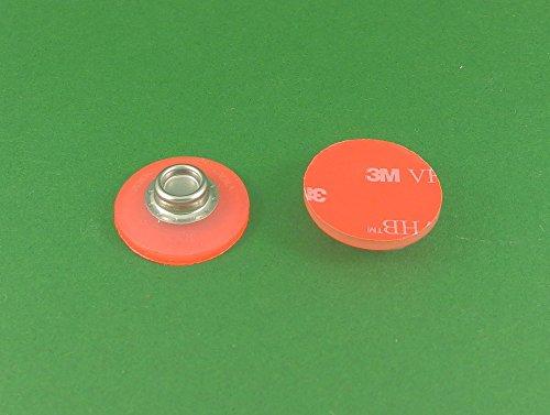 BP SNAD 3 - Duidelijke zelfklevende 25mm SNAD Bevestiging Flexibele Studs voor caravan, camper, boot, luifel