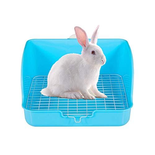 Yagoal Meerschweinchen Toilette Meerschweinchen Zubehoer Hamster Käfig Tablett Meerschweinchen Bett Kaninchenstreu Tablett Pellets Hamster Toilette Blue