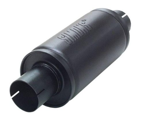 Simons U456300 - Silenciador Universal (Acero, 63,5 mm), Color Negro