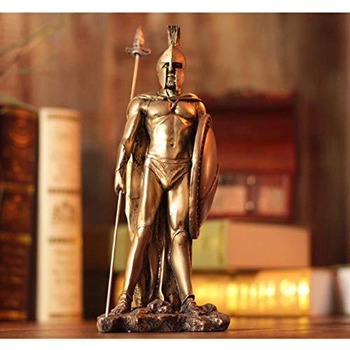 QMZZN Moderne Statue Dekoration Statuen Skulptur Retro Rom Statue Mittelalterliche Samurai Rüstung Figur Skulptur Harz Home Decoration