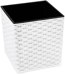 Lamela Pot de Rattan juka 25 x 25 x 26 cm H Blanc Partie e Point 5