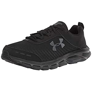 Under Armour mens Charged Assert 8 Running Shoe, Black (003 Black, 12 X-Wide US