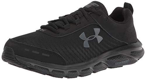 Under Armour mens Charged Assert 8 Running Shoe, Black (002 Black, 10.5 US