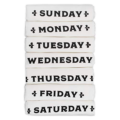 Top 10 Best Selling List for days of the week kitchen towels