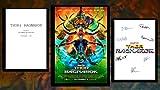 Thor ? Ragnarok Movie Script Screenplay w/autographe Print and Movie Poster ? Cadeau idéal pour homme et femme ? Photo dédicacée