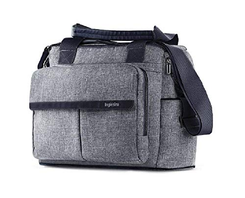 Inglesina Mala com Trocador Dual Bag para Sistema Aptica Niagara Blue Cinzenta