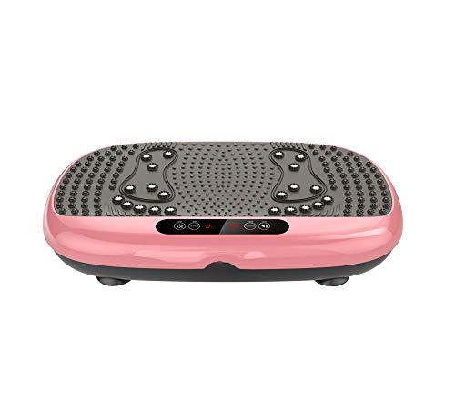 B/H Plataforma Vibratoria 3D para,Máquina para Levantar y agitar Grasa, máquina de Ejercicios Perezosa de pie, Oro Rosa,Plataforma Vibratoria Ultra Slim
