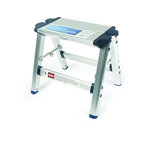 Camco Folding Metal Step Stool - Perfect for Hard to Reach Areas in Kitchens and Closets, Great as a Truck Stool, Folds for Easy Storage (43672)