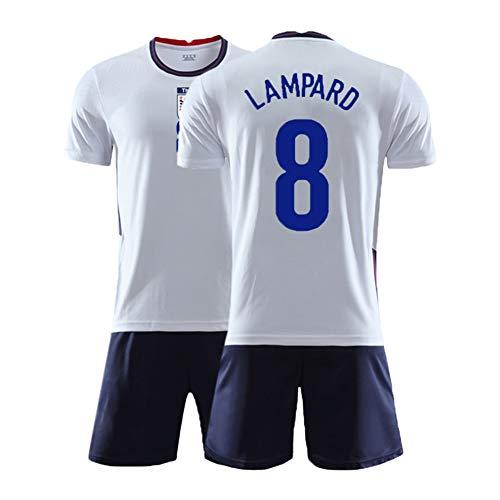 XH Kinderfußbälle Trikot Set Frank Lampard # 8 Trainingskleidung T-Shirt Kindergröße, 16-28 (Color : White, Size : Children-22)
