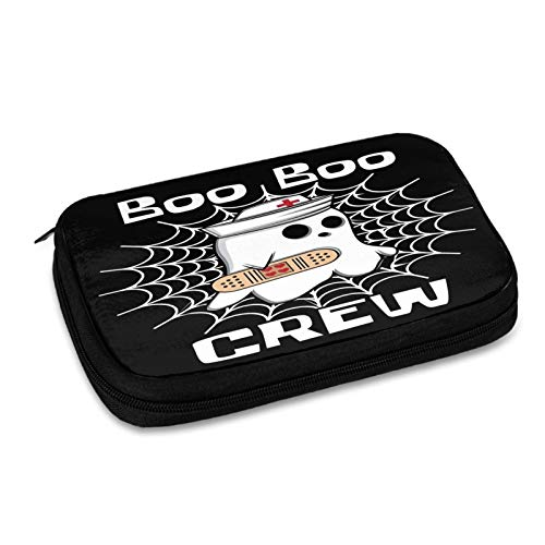 Halloween Nurse Doctor Joke Heart Gift Electronic Organizer Travel Cable Organizer Cases Electronics Accessories Storage Bag for USB,Sd Cards,Chargers