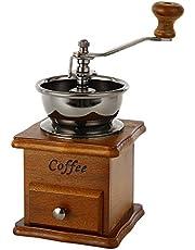 Zulux Vintage manuell kaffekvarn keramisk konisk borr bärbar handvev kaffebryggare (Lax)
