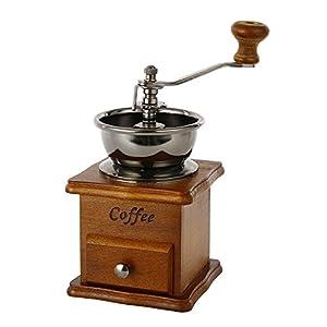 ZULUX Vendimia manual Amoladora de café de cerámica cónico Burr portátil de la manivela cafetera ( De lino)