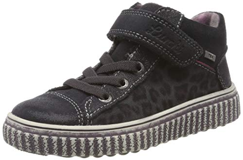 Lurchi Mädchen YULI-TEX Hohe Sneaker, Grau (Charcoal 25), 32 EU