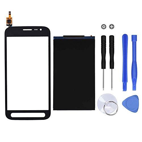 MovTEK Touchscreen + LCD Display Bildschirm Glas Ersatz for Samsung Galaxy Xcover 4 G390 /Xcover 4s G398 Schwarz mit Werkzeuge & Kleber