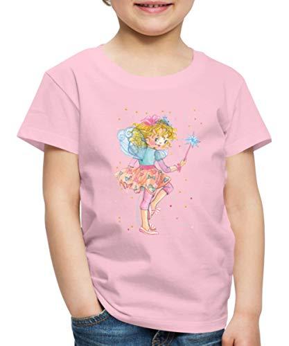 Prinzessin Lillifee mit Konfetti Kinder Premium T-Shirt, 98-104, Hellrosa