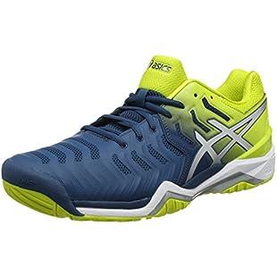 Asics Mens Gel-Resolution 7 Sneakers, Blue (Ink Blue/Sulphur Springs/White), 9.5 UK (44.5 EU)