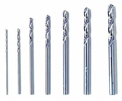 Dremel 628 Juego de Brocas de Precisión - Kit de 7 Accesorios para Taladrar (0.8 / 1.2 / 1.6 / 2.0 / 2.4 / 2.8 / 3.2 mm)