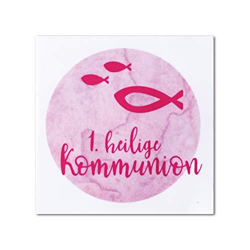 Rayher 31631258 Wachsmotiv Watercolor- Heilige Kommunion, rosé, 6,7 x 6,7 cm, 1 Stück, zum Gestalten von Kerzen für die Kommunionsfeier