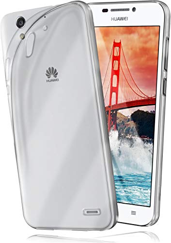 moex Aero Hülle kompatibel mit Huawei Ascend G630 - Hülle aus Silikon, komplett transparent, Klarsicht Handy Schutzhülle Ultra dünn, Handyhülle durchsichtig einfarbig, Klar