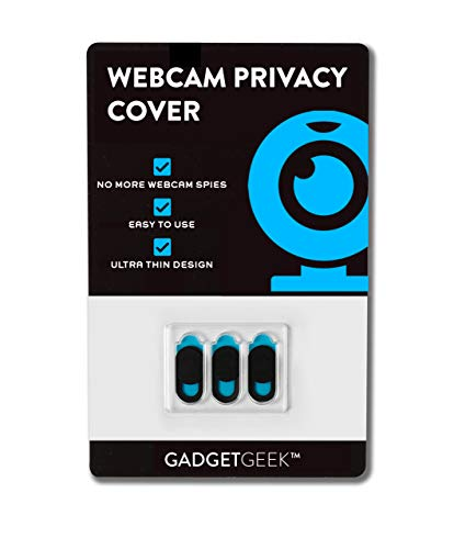 Webcam Privacy cover, 3 pack ultra slim stronger glue, privacy online when using a Macbook, Macbook Pro and more. Easy to use, robust, sliding cover, in black. …