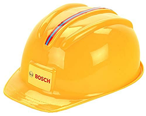 Theo Klein 8127 Bosch Handwerkerhelm I Der Spielzeughelm im Handwerker-Look I Größenverstellbar I Maße: 25,8 cm x 19,5 cm x 11 cm I Spielzeug für Kinder ab 3 Jahren, gelb
