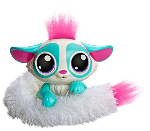 Lil' Gleemerz GCN63 Amiglow Furry Friend, Teal, Interactive Talking Toy with LED Light Up Tail
