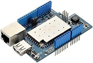 Seeedstudio Yun Shield / Processor: 400MHz, 24K MIPS / Flash: 16MBytes / RAM: 64MBytes / Power Input: 4.75v 23v via Arduino VIN pin / 10M/100M RJ45 connector / 150M WiFi 802.11 b/g/n