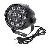 Fesjoy Par Luces, RGBW DMX-512 LED de Alta Potencia Etapa PAR iluminación luz estroboscópica Profesional 8 Canales Show Disco Party 15W CA 90-240V