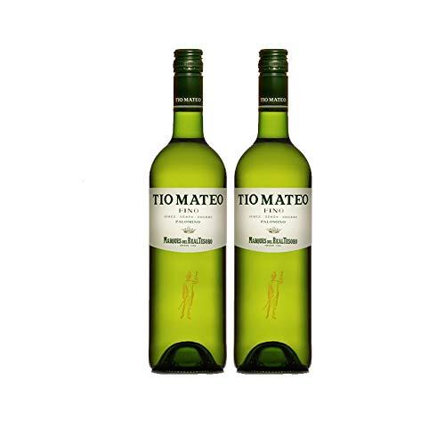 Vino Fino Tio Mateo de 37.5 cl - D.O.Jerez - Bodegas Grupo Estevez (Pack de 2 botellas)