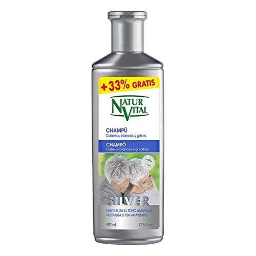 CHAMPÚ SILVER cabello blanco y gris 400 ml