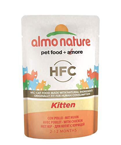 Almo Nature Cat HFC Cuisine Kitten Pollo, 55 g, Pack of 24