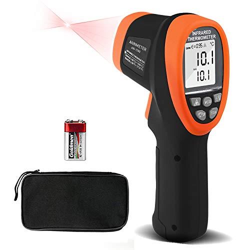 赤外線温度計ガン、高温計、ANNMETER AN-1500非接触高温IRゲージ、高温範囲50℃-1500℃、迅速な応答0.25秒。 HVAC、工業用、窯用デジタル放射温度計(日本語取扱説明書付き)人間用ではありません