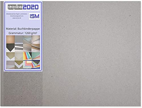 20 Stück echte, hochwertige Buchbinderpappe; 2,0mm; DIN A3