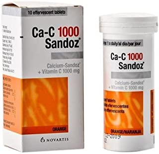 3 Pack Ca-c 1000 Sandoz Effervescent Tablets 10 Tablets