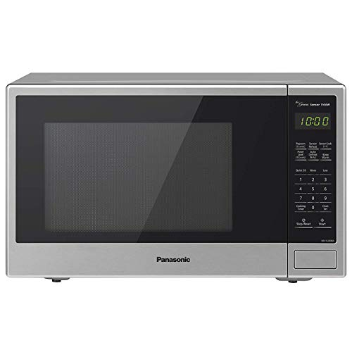 Panasonic Microwave Oven NN-SU696S Stainless Steel Countertop/Built-In with Inverter Technology and Genius Sensor, 1.3 Cu. Ft, 1100W (Renewed)