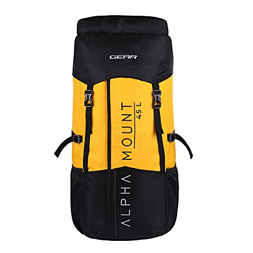 Gear Alphamount 45 Travel & Trekking Rucksack (Black-Yellow), One Size (RKSALPAMT0112)