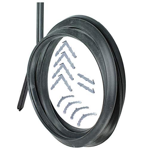SPARES2GO Junta universal de puerta de cocina de horno de goma de 3 y 4 lados (con clips de esquina de púas)